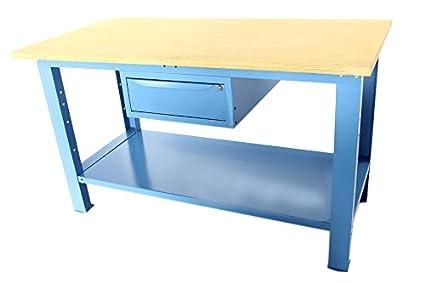 Tavolo Da Lavoro Kupper : Banco da lavoro mt con piano in legno cassetto serie