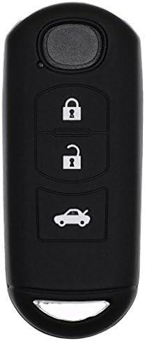 Soft Case Schutz Hülle Auto Schlüssel Key Cover Keyless Schwarz Für Mazda 2 3 6 Cx
