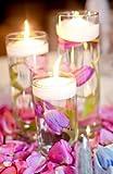 SPRINGROSE 3 Inch White Wedding Floating Candles-set of 20