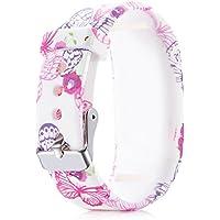 Garmin vivofit JR/Vivofit JR 2/Vivofit 3 Replacement Fitness Wristband Bracelet Tracker Wrist Band (Butterfly)