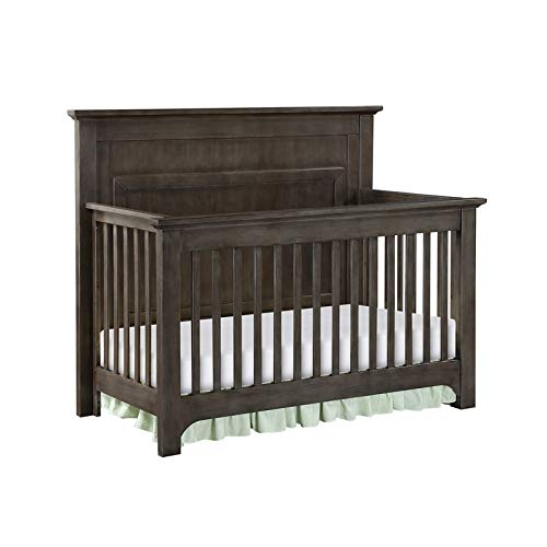 Building Blocks Barclay Crib with Extension Kit in Burnished Grey