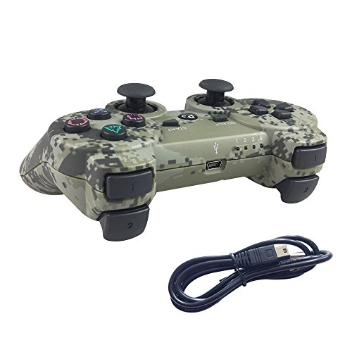 Faceplate Quad (Deloke Wireless Bluetooth Controller For PS3 Double Shock - Bundled with USB charge cord (Camouflage1))