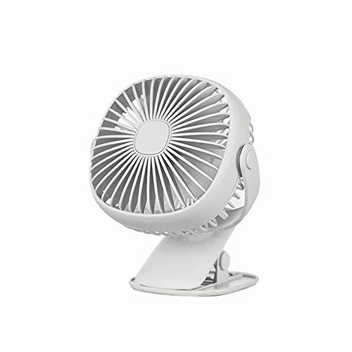 (North cool Mini USB Small Fan Portable Rechargeable Student Dormitory Silent Desktop Clip Fan 3 Colors Optional (Color : White))