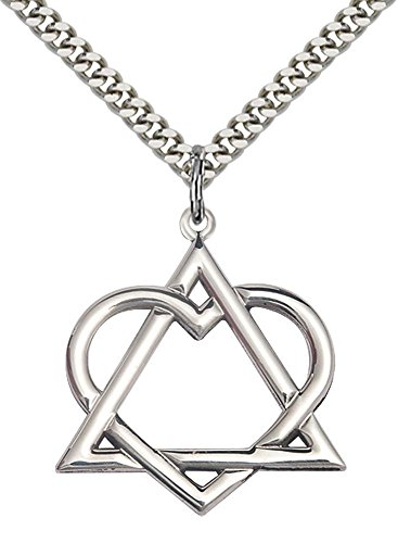 Sterling Silver Adoption Heart Pendant with 24