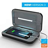 Phonesoap Black 3.0 Sanitizer and Universal Phone Charger UV-C Lights Sanitize and Kill