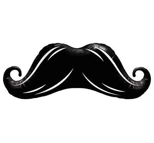 Qualatex Mustache Microfoil Balloon, 42-Inches | Black | 1-Pack ()
