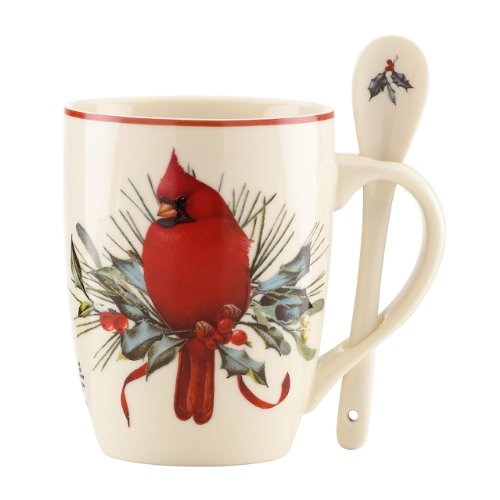 Lenox Winter Greetings Cocoa Mugs, Set of 2