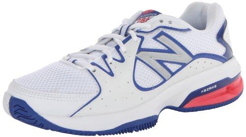 New Balance Women's WC786 Tennis Shoe,White/Pink,5 B US