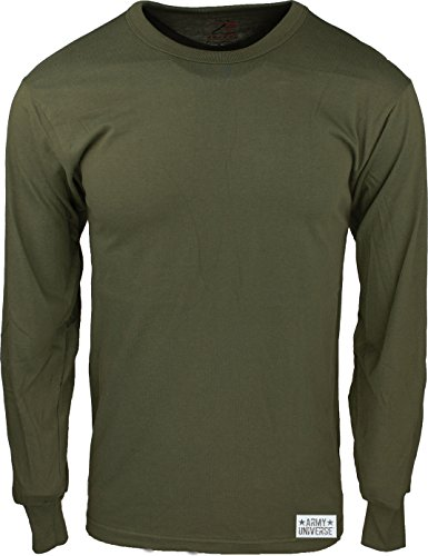 Army Universe Olive Drab Long Sleeve Military T-Shirt with Pin - Size Large (41