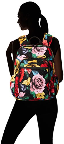 Women's Campus Tech Backpack, Signature Cotton, Havana Rose