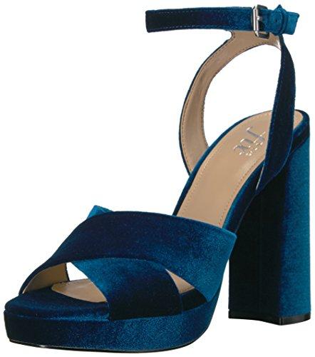 The Fix Womens Gabriela High Heel Cross Strap Platform Dress Sandal Petrol Blue 7 B Us