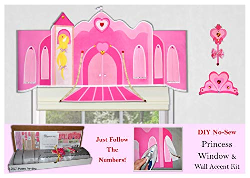 Traceable Designer Children's Window Treatment, Princess Valance, No-Sew Decorating Kit ()