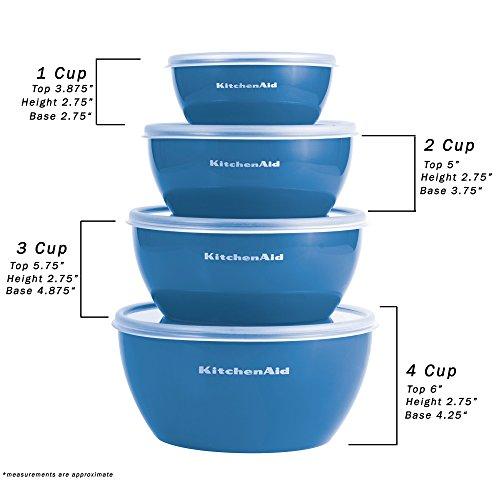 Kitchenaid Prep Bowls with Lids, Set of 4, Ocean Blue by KitchenAid (Image #5)