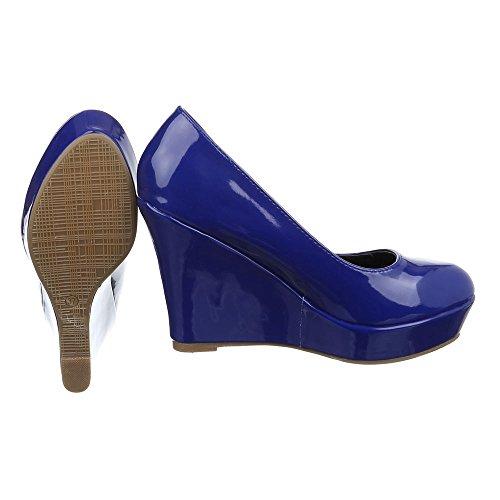 Plataforma PA15715 Design Ital Mujer Blau wW6nfAg