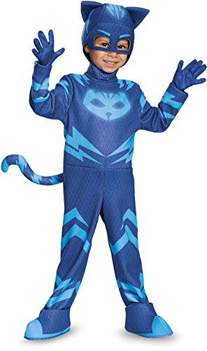 Catboy Deluxe Toddler PJ Masks Costume, Medium/3T-4T