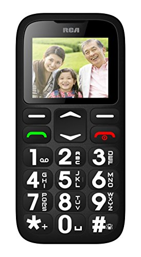 RCA Unlocked Quad Band World Phone With Extra Large Digits and Emergency 1-Touch SOS Calling
