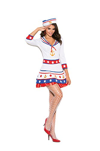 Zabeanco Sexy Woman's Sailor Role Play Halloween Costume (Large)