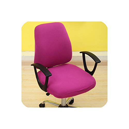 - 2pcs/Set Universal Armchair Covers Swivel Computer Chair Covers Stretch Spandex Chair Protector Home Office Seat Chair Cases,meihong,Universal