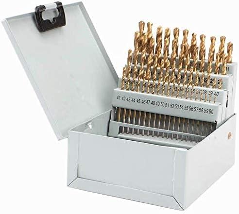 "0.228/""-0.04 60 Pc Titanium Nitride Coated Numbered Drill Bit Set #1 ~ #60"