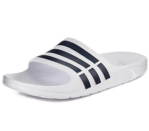 Adidas Duramo Slide Atletisch Sandaal Wit / Collegiaal Marine / Wit