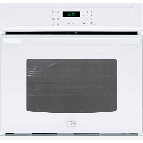 Kenmore 49422 30″ Electric Single Wall Oven with Select Clean in White, includes delivery and hookup (Available in select cities only)