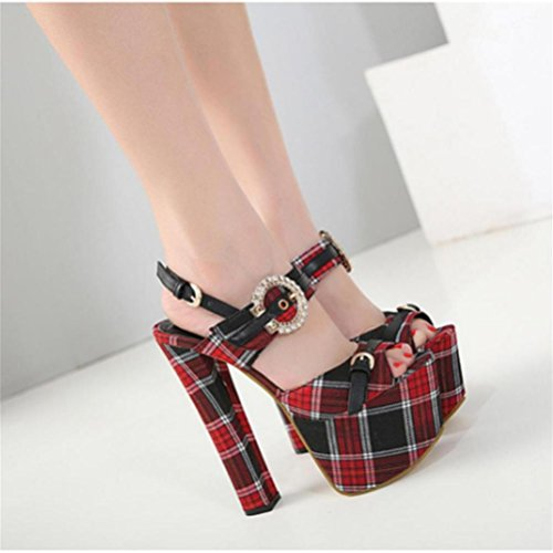Hauts Heel Red Buckle Talons À Femmes Cm Spell 10 Couleur Xie Fine Shoes Rainbow Sandales Bout Ouvert Bare Strass 7wYUTxq