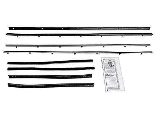 Beltline Weatherstrip Fits 1966-70 Fairlane Comet Convertible 8-Pc Fuzzies Inner Outer Doors Qtr Windows (FA104) ()
