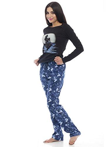 Chiaro Sirenetta Blu La Nero nero Pigiama di luna blu d5wHOqwfn