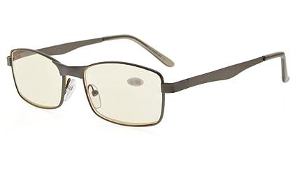 Eyekepper I lettori Rettangolo Half-cerchio Primavera Templi occhiali da lettura nero+4.00 VuTL0xa6