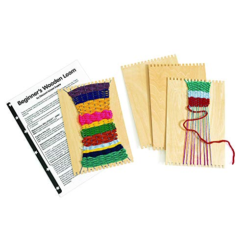 Colorations Beginners Wooden Loom, Set of 12, for Kids, Arts & Crafts, Weaving, Craft Activity, Motor Skills, Critical Thinking, Basket, Jewelry, Crochet, Teaching, Educational