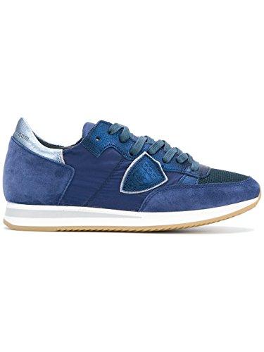 Philippe Model Dames Trldw004 Blauw Lederen Sneakers