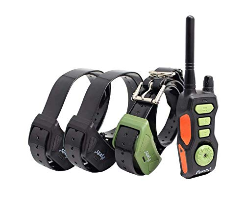 3 Dog Training Collar 2600ft Remote Range IPX6 Waterproof Rechargeable E-Collar with 3 Modes Beep Vibration & Shock and All Breeds Behavior Aids with Respect,3