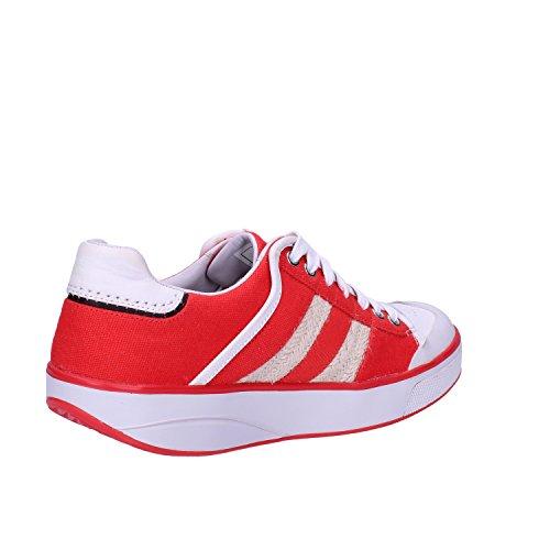 MBT Sneakers Damen 37 EU Orange Weiß Textil Leder