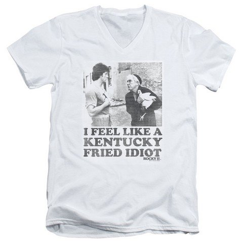 Buy rocky fried idiot mens v-neck shirt