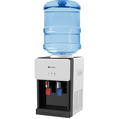 Avalon Premium Hot/Cold Top Loading Countertop Water Cooler Dispenser With Child Safety Lock. UL/Energy Star Approved- White by Avalon
