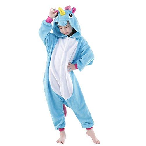 New 52 Costumes (NEWCOSPLAY Halloween Unisex Children Unicorn Pajamas Costume (8-height 51-54