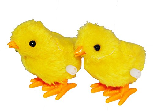 Plush Pair of Hopping Wind-Up Friends! 2 Chick - Combo Pack of 2 (Chicks Bargain)