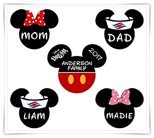 Personalized Disney Inspired Classic Mickey Magnet | Cruise Door Magnet | Mickey Minnie Magnet | Stateroom Door Decoration.