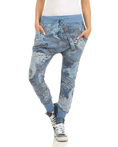 Pantaloni Zarmexx Loose Fit Sport Signore Tuta Lounge Pants Harem Blu Fidanzato Denim Della Alla Dei Larghi Moda qSInxwSrH
