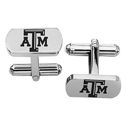 Texas A&M University Aggies Rectangular Shape Stainless Steel Cufflinks ()