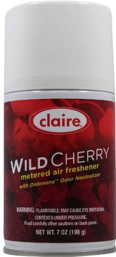 - Claire C-107 7 Oz. Wild Cherry Metered Air Freshener Aerosol Can (Case of 12)