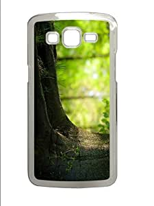cases uncommon summer tree trunk PC Transparent case/cover for Samsung Galaxy Grand 2/7106