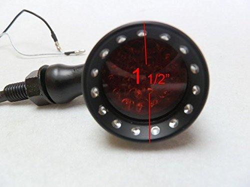 Tmsuschina 20 LED Black Red Billet Turn Signal Stop Brake Light T for Harley Dyna Bobber Honda Yamaha Suzuki Kawasaki