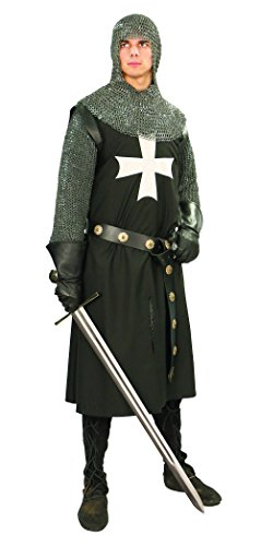 Museum Replicas Hospitaller Knight's Tunic Medieval surcoat Costume (Small/Medium)