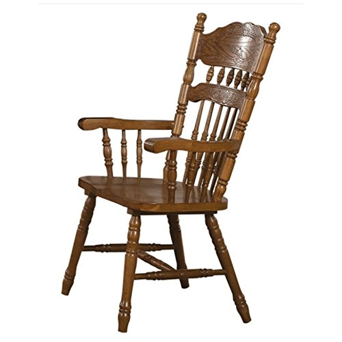 Coaster Home Furnishings Country Arm Chair, Oak, Set of 2