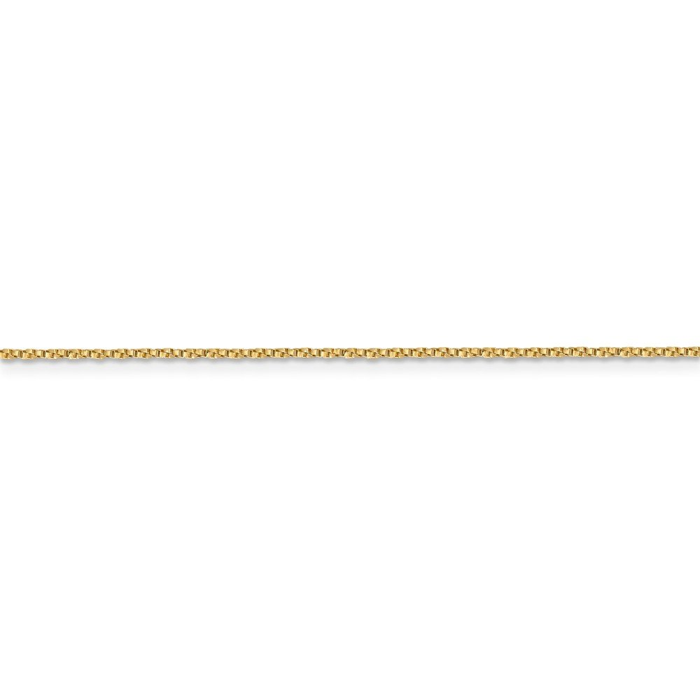 ICE CARATS 14k Yellow Gold .95mm Twisted Link Box Chain Necklace 18 Inch Fine Jewelry Gift Set For Women Heart by ICE CARATS (Image #5)
