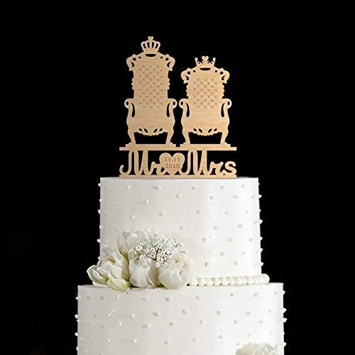 Decoración para tartas de Mr and Mrs, Su reina su rey ...