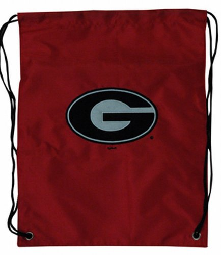 NCAA Georgia Bulldogs Backsack with Draw Strings and Team Logo, Medium, Team Color (Georgia Bulldogs Ncaa Drawstring)