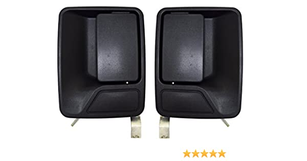 Rear Left//Right Pair PT Auto Warehouse FO-3703A-RP Textured Black Outside Exterior Outer Door Handle