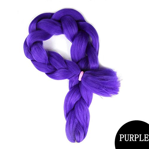 Sinwo Women Girls Braids Bulk Hair Braiding Hair Style Synthetic Hair Crochet Braid (G)